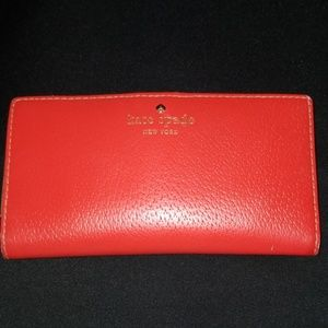 Kate Spade Red Grand Street Stacy Wallet